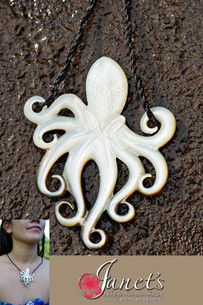 Octopus Mother of Pearl Shell BRPS77