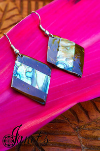 Coconut Earring w/ Paua JIP03