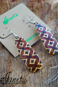 Painted Coconut Earring JIPE03