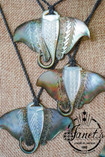 3 Pearl Shell Sting Rays showing different designs
