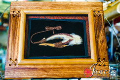 Framed Marlin Hook Motif  BRF103