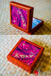 Samoan Tile Box CC30-Red Waves