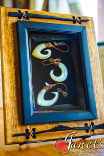 Framed Samoan Traditional Fishing Hooks BRF114