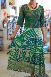 Janet's KALOLO DRESS GREEN