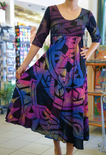 Janet's KALOLO DRESS PURPLE