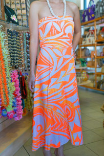 Janet's STRAPLESS DRESS ORANGE