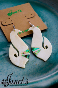 Bone and Paua Earring JIOE05