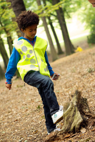 Children's Hi-Vis Reflective Vest - Circles