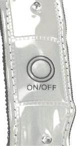 Hi-Visibility LED Armband Silver/White