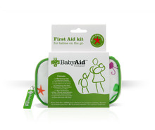 This essential first aid kit for babies comes in an appealing and easy to clean fabric making it ideal for young families.