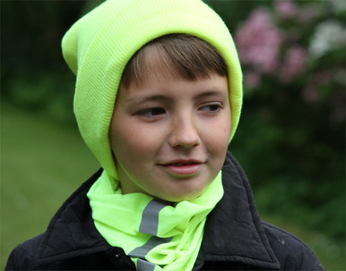 Childrens Hi Vis Beanie Hat