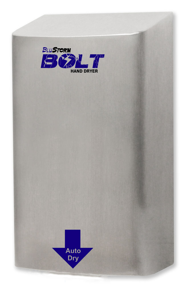 New BluStorm Bolt Hand Dryer from Palmer Fixture