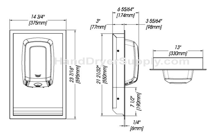 machflow-kt0009cs-recess-kit-dimensions