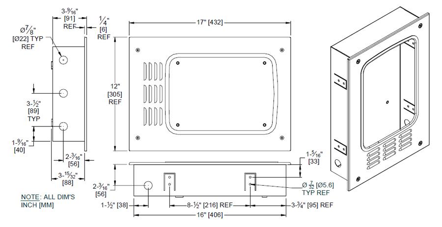 asi 0119-92 turbo dri Recess Kit Diagram