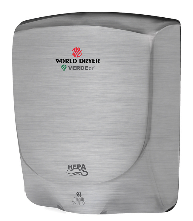 Q-973A VerdeDri in Brushed Stainless Steel from World Hand Dryers