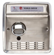 Model DXRA5-Q973 Automatic Recessed Brushed Stainless Steel Hand Dryer by World Dryer
