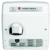 Model XRA5-Q974 Cast Iron White Automatic Recessed Mount ADA Compliant Hand Dryer by World Dryer