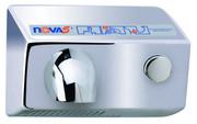 World Dryer Nova 5 011299 and 012299 Aluminum Polished Chrome Push Button hand dryer