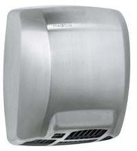 MEDIFLOW Series M02AC Automatic Stainless Steel Satin Hand Dryer from Saniflow - Intelligent Logic Dry Warm Air Electric Dryer, Surface Mounted Design
