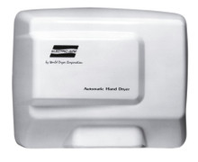 World Dryer Electric-Aire LE-974 Aluminum White Automatic Hand Dryer