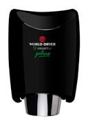 World Dryer SMARTdri Plus K-162P Black Aluminum hand dryer with single port nozzle