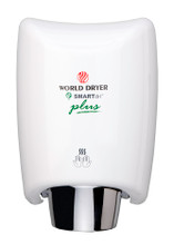 World Dryer SMARTdri Plus K-975P White Steel Surface Mounted Automatic warm air Hand Dryer with single port nozzle