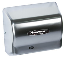 AD90-C satin chrome Advantage fixed hair dryer by American Dryer Corp