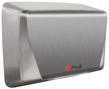 Turbo ADA 0199-92 hand dryer in bright stainless steel by ASI comes in 110-120v, 220-240v, and 277v.