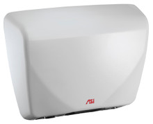 ASI Roval 0185 Hand Dryer is white, with Universal Voltage and is ADA compliant.