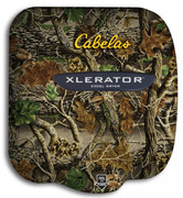 Cabela's Xlerator XL-SI hand dryer with custom logo on HandDryerSupply.com