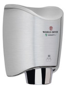 World Dryer K-971 Aluminum Brushed Chrome Smartdri hand dryer