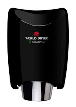 World Dryer SMARTdri K-162 Aluminum Black restroom hand dryer