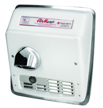 World Dryer AirMax Cast Iron White Automatic Recessed Mount commercial hand dryer