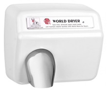World Dryer Model XA5 Cast Iron White Automatic commercial hand dryer