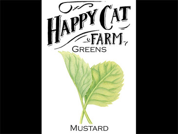 Happy Cat Mustard Greens