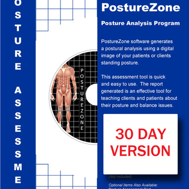 Downloadable 30-day Trial:  PostureZone Posture Analysis Software