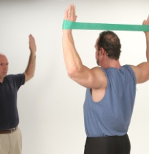 Posture Exercise Protocol using resistance band loops.