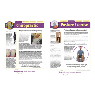Set of 2 posters: Chiropractic & Posture Exercise patient education