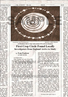 Fake Joke Newspaper Article CROP CIRCLES IN A FIELD NEAR YOU