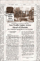 Fake Joke Newspaper Article NEW TRAFFIC LIGHTS ARRIVE AHEAD OF SCHEDULE