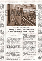 "Fake Joke Newspaper Article BLIMP ""LANDS"" ON MONORAIL"