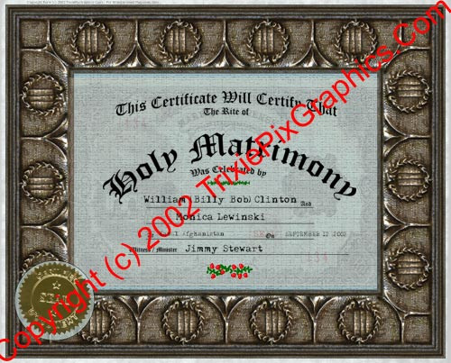 FC-07 Fake Marriage Certificate