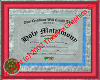 FC-09 Fake Marriage Certificate