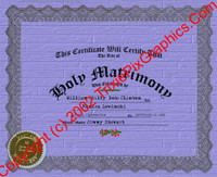 FC-14 Fake Marriage Certificate