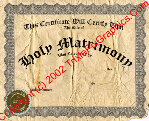 FC-19 Fake Marriage Certificate