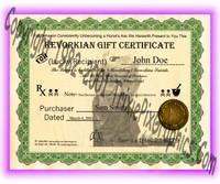 Kevorkian Gift Certificate