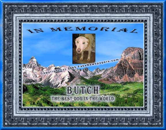 Pet Memorial Certificate
