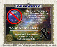 Earth Graduation Certificate