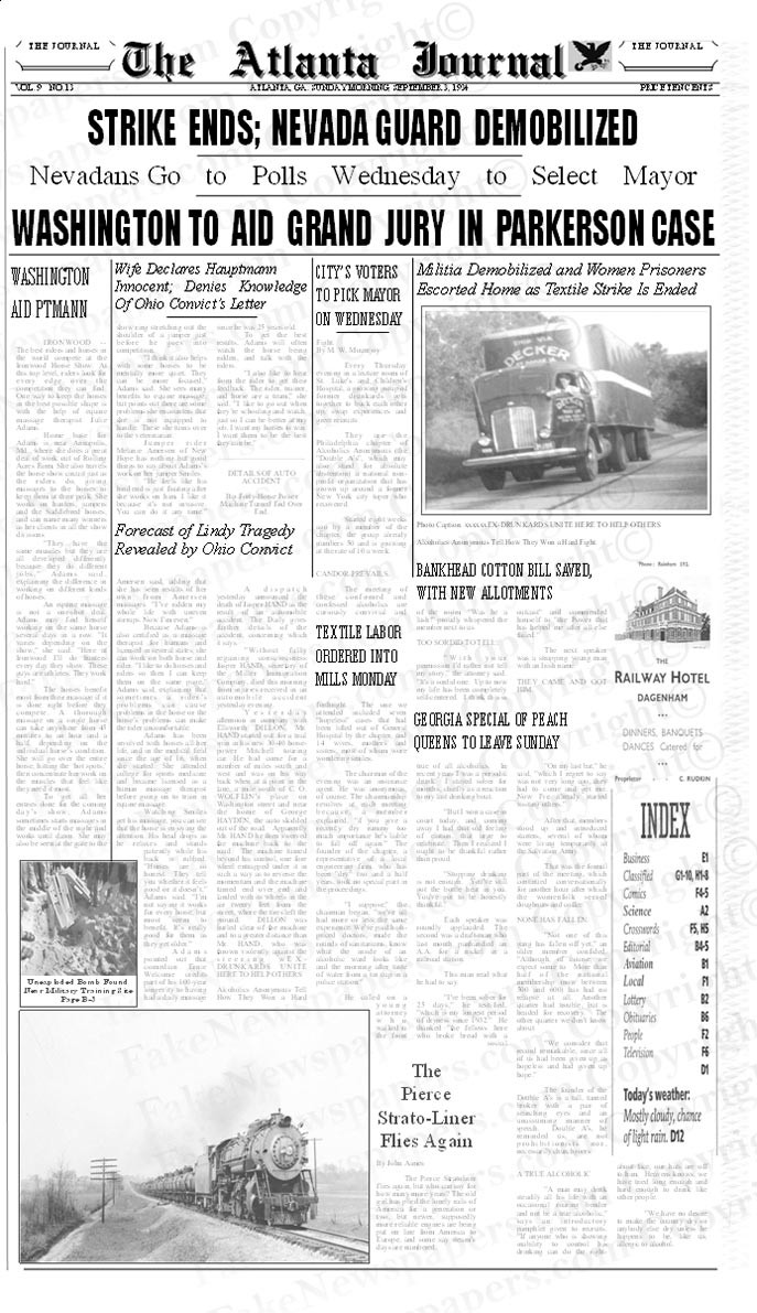 """Template Name: """"1940s to 1950s"""" This newspaper template includes formatting, text and photos from the 1940s to 1950s."""