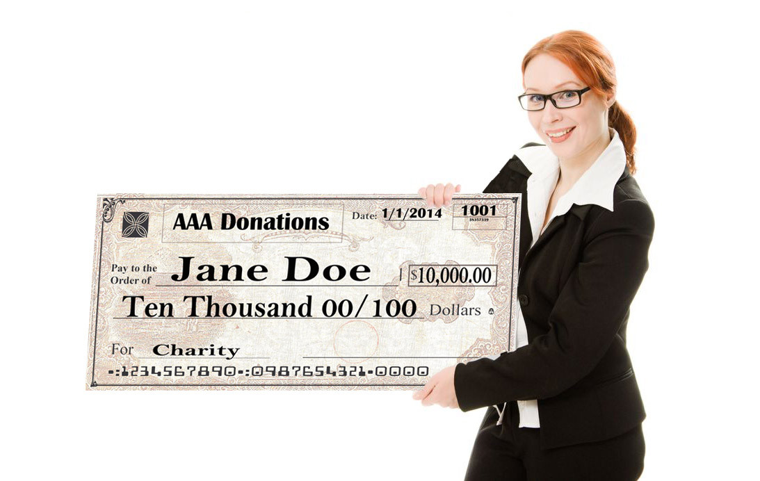 Personalized Giant Check
